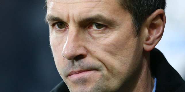 NEWCASTLE UPON TYNE, ENGLAND - DECEMBER 19:  Remi Garde Manager of Aston Villa looks on during the Barclays Premier League match between Newcastle United and Aston Villa at St James' Park on December 19, 2015 in Newcastle upon Tyne, England.  (Photo by Mark Runnacles/Getty Images)